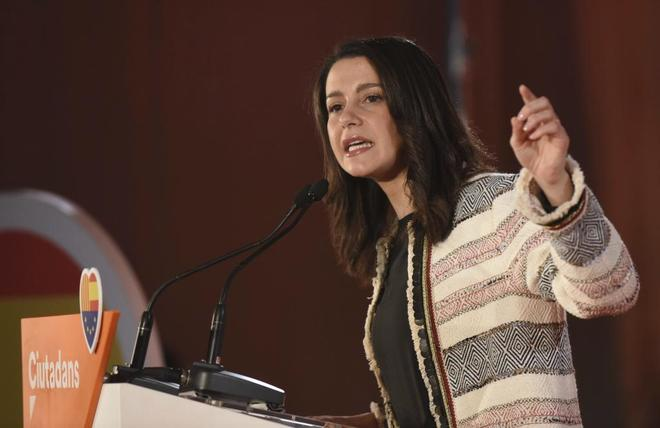 Inés Arrimadas, durante un acto reciente de Ciudadanos en Barcelona.