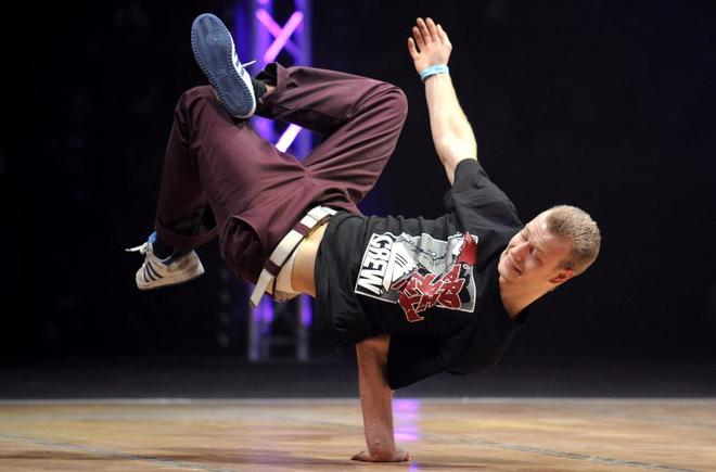 Competición de breakdance.