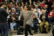 Acto electoral de la alcaldesa Ada Colau en el Centre Cívic Casinet de Hostafrancs