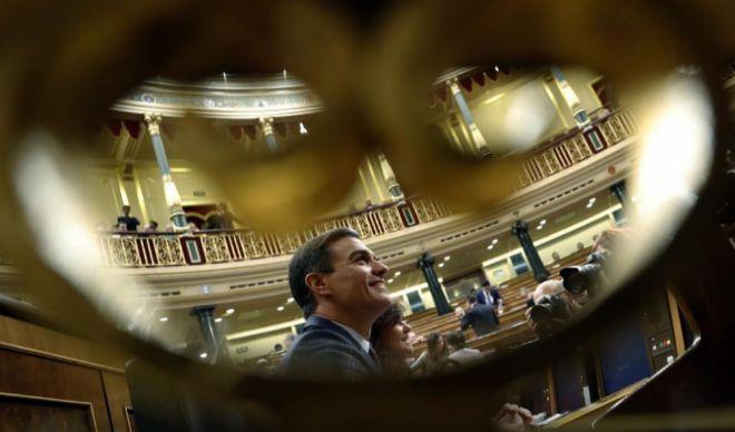 Pedro Sánchez, durante una sesión en el Congreso.