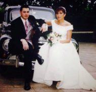 Foto del día de la boda de Pedro Nieva y Katia en 2000.