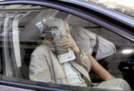 El testigo protegido, tras prestar declaración ante la juez Alaya en octubre de 2014.