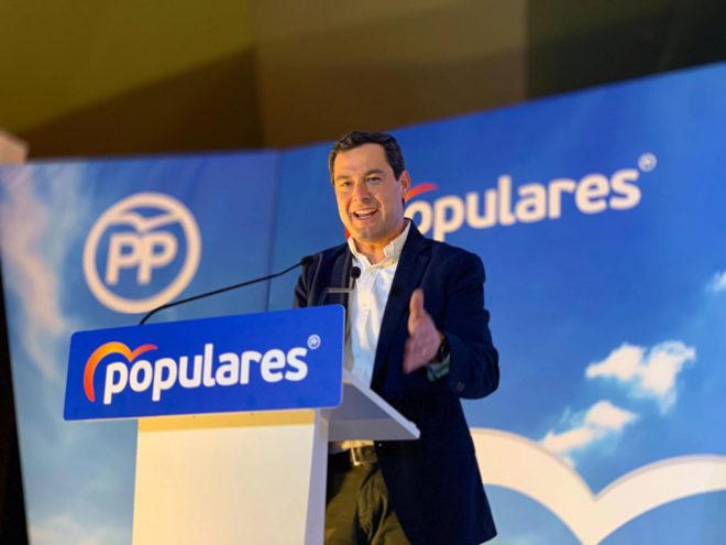 Juanma Moreno, en un acto del PP en Jaén.