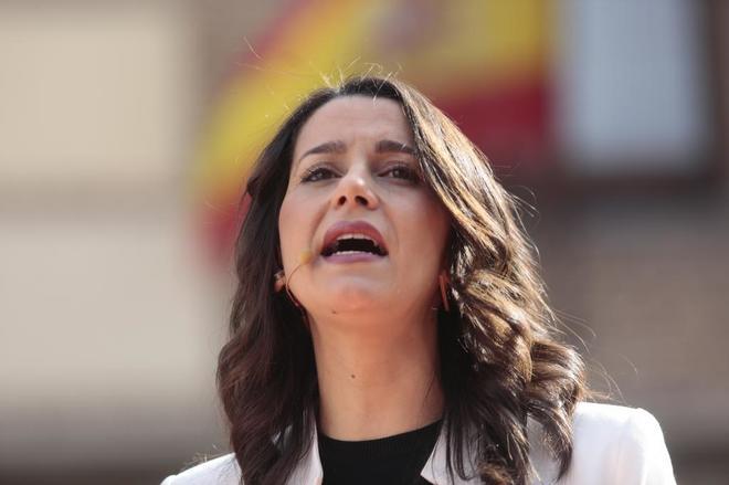 Inés <HIT>Arrimadas</HIT> , en un acto en Madrid este sábado