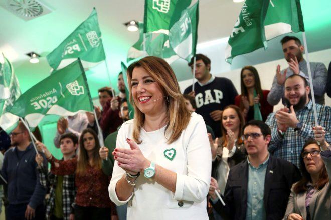 Susana Díaz, en un acto del PSOE en Antequera este fin de semana.