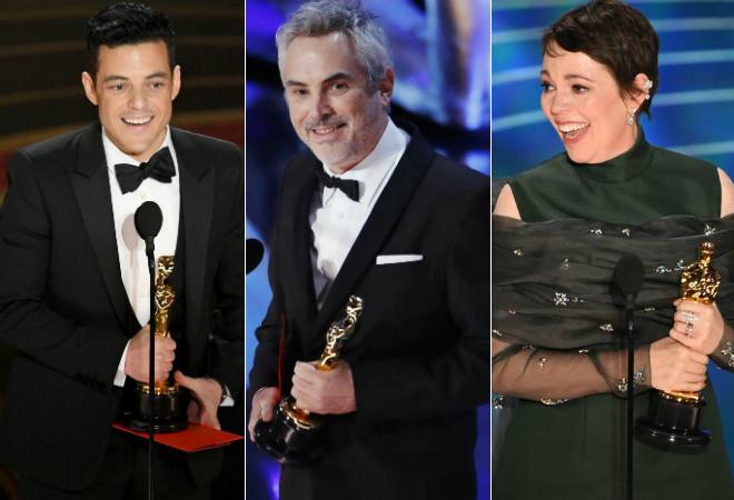 Los ganadores de los Oscars 2019: Rami Malek (Mejor actor), Alfonso...