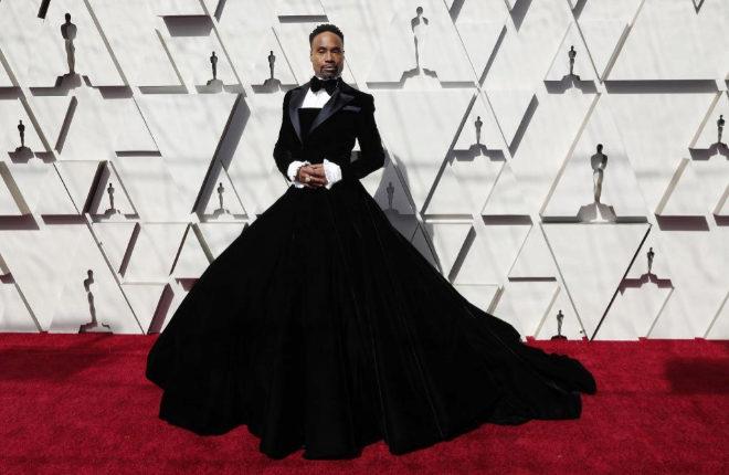 Billy Porter rompe los estereotipos en la alfombra roja de los Oscar con un esmoquin con falda