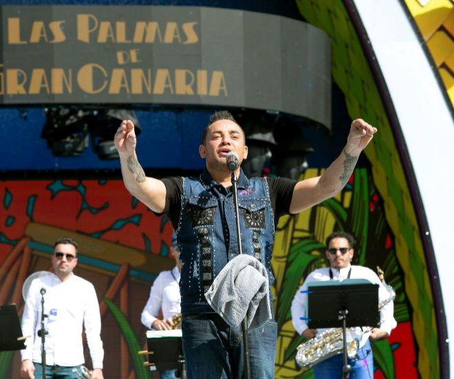 Manny Manuel durante elconcierto en Las Palmas