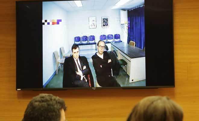 El ex responsable de Orange Market Álvaro Pérez, 'El Bigotes', durante su declaración por videoconferencia desde la cárcel.
