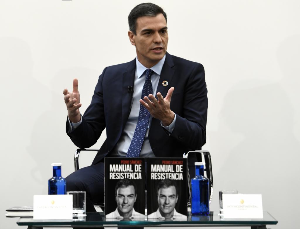 Pedro Sánchez, en la presentación de su libro 'Manual de...