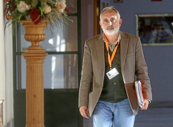 Fernando Villén, ex director general de la Faffe, en el Parlamento andaluz en marzo de 2016.