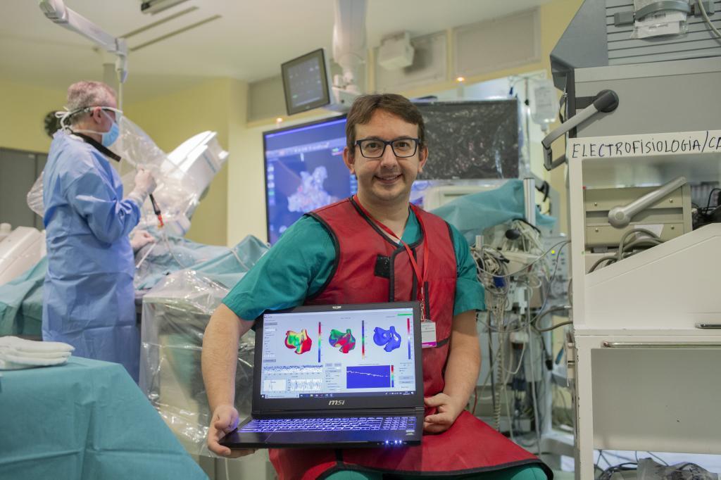 Andreu Climent en el Hospital Gregorio Marañón de Madrid.