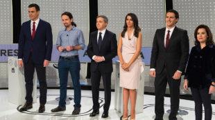 El debate electoral celebrado en 2015 en Atresmedia.