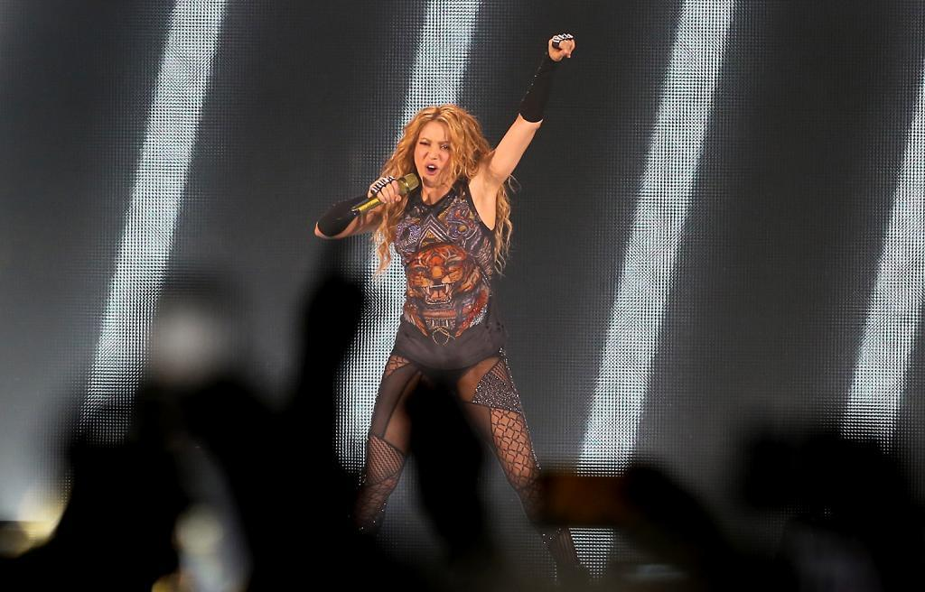 Shakira en un concierto