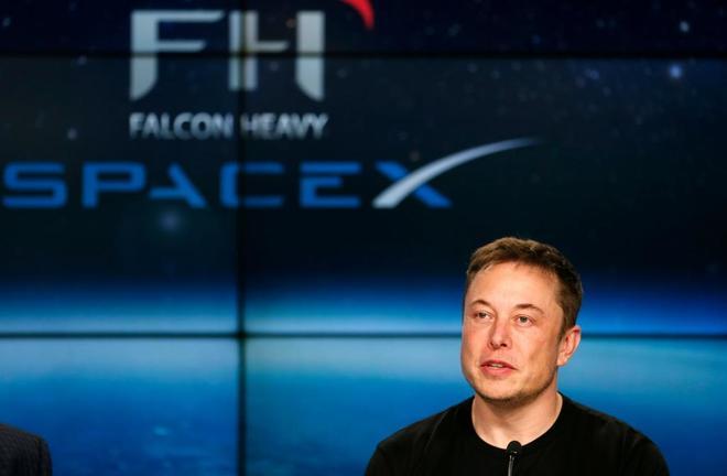 Elon Musk, en una presentación de Space X.