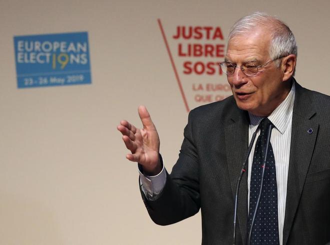 El ministro de Exteriores, Josep Borrell, en un acto en el Centro de...