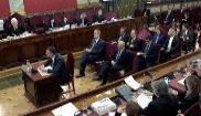 El ex consejero Santi Vila, durante su declaración en el Tribunal...