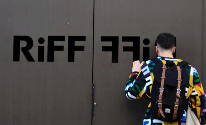 Puerta del restaurante de lujo Riff en Valencia, cerrado actualmente al público.