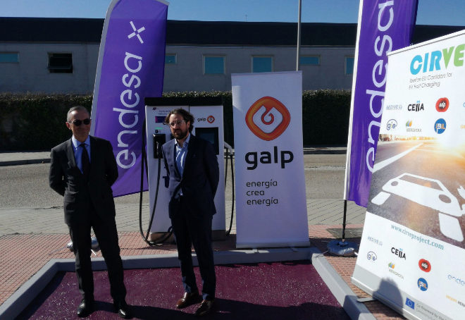 Endesa X y Galp estrenan punto de  carga rápida para eléctricos en Madrid
