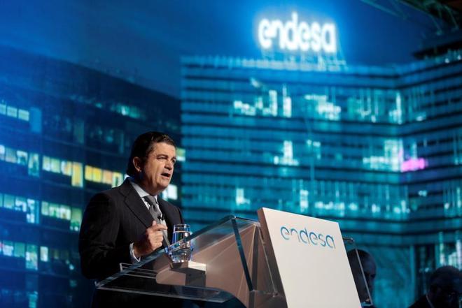 El presidente de Endesa, Borja Prado, en una junta de accionistas de la compañía.