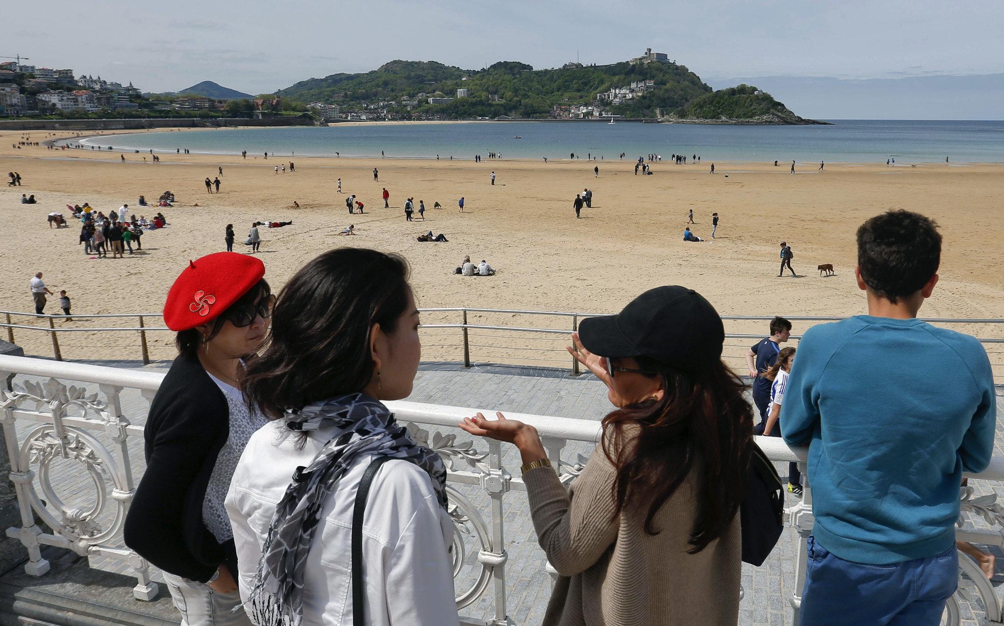Una imagen de la playa donostiarra de La Concha.