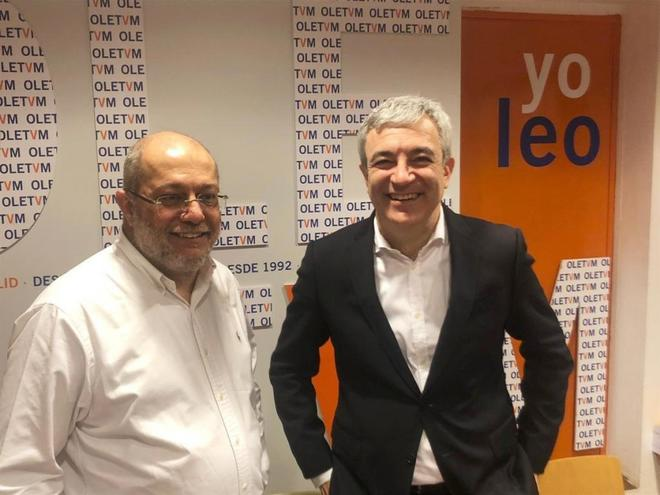 Luis Garicano, junto al diputado por Valladolid Francisco Igea.