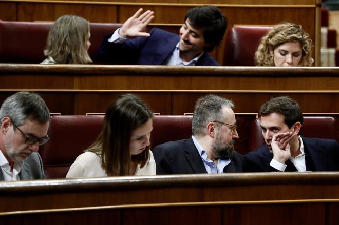 Los diputados de Cs Rivera, Girauta, Rodríguez y Villegas. EFE/Mariscal