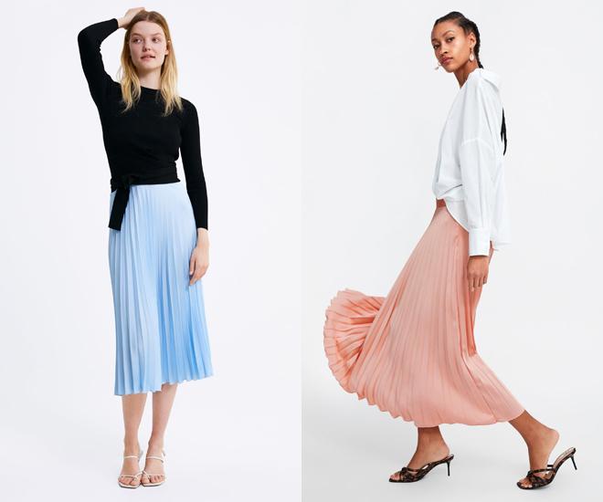 30b1f9c34 La falda plisada más versátil para la primavera está en Zara | Moda