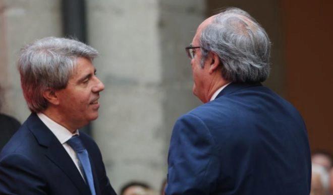El presidente de la Comunidad de Madrid, Ángel Garrido, con Ángel Gabilondo.