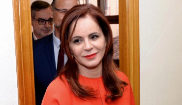 Silvia Clemente, el lunes, al presentar su candidatura a las primarias...