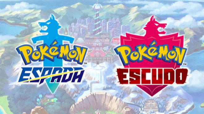 Los logos de Pokémon Espada y Pokémon Escudo