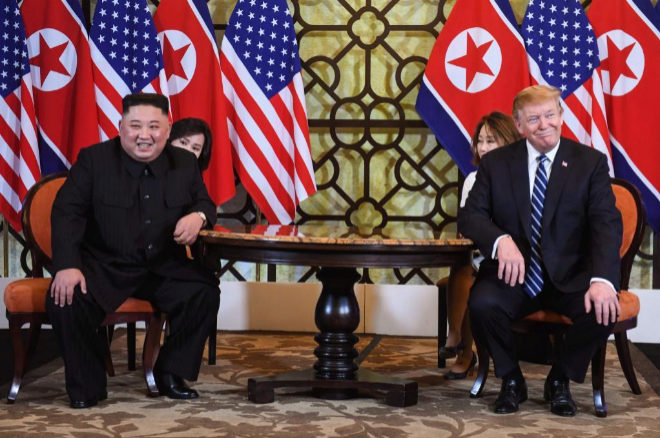 El líder norcoreano, Kim Jong-un, y el presidente de EEUU, Donald Trump.