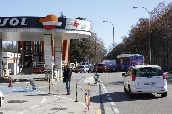 Gasolinera en Atocha, en Madrid.