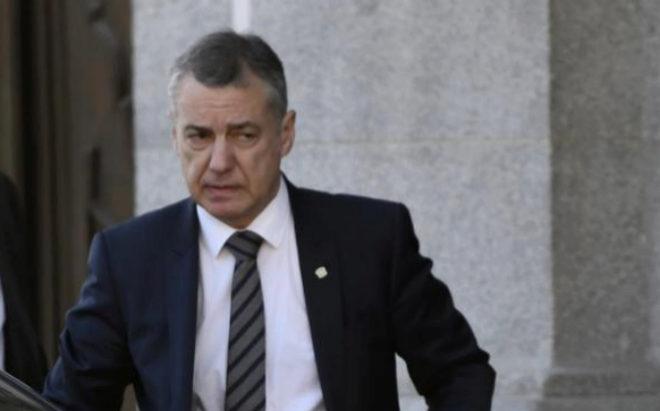 El lehendakari vasco, Iñigo Urkullu, a su llegada al Tribunal Supremo.
