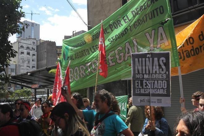 Manifestación  en Buenos Aires, a favor de que se le practicara un aborto a la menor.