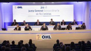 Junta General Extraordinaria de Accionistas de OHL en enero de 2018.