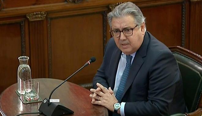 El ex ministro del Interior Juan Ignacio Zoido, en su declaración como testigo.