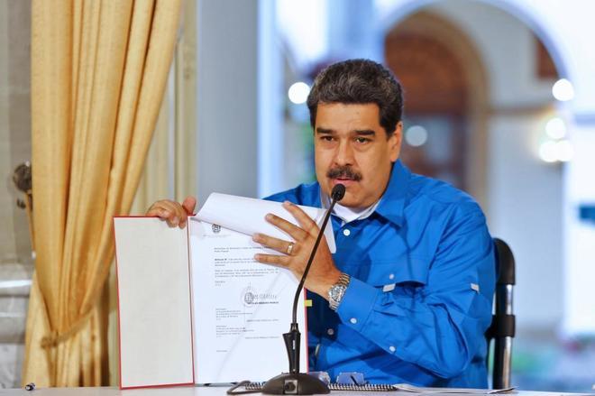 El líder chavista, Nicolás Maduro, en Caracas