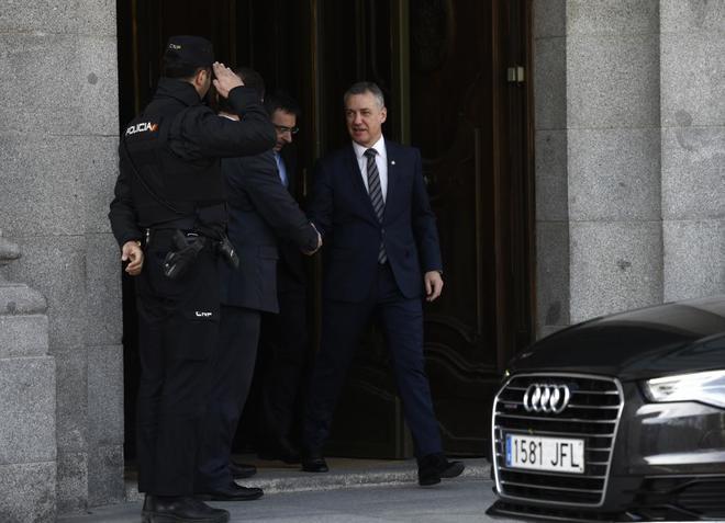 Iñigo Urkullu sale del Tribunal Supremo tras declarar en el juicio del 1-O.