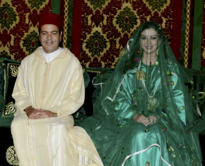 El día de la boda de Lalla Oum y Moulay Rachid, en 2014