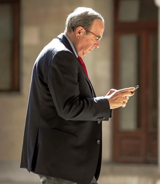 José María Rodríguez, esta semana en un receso del juicio.