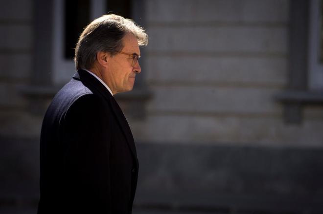 El ex president Artur Mas, el miércoles, a su salida del Tribunal Supremo tras declarar en el juicio del 1-O.