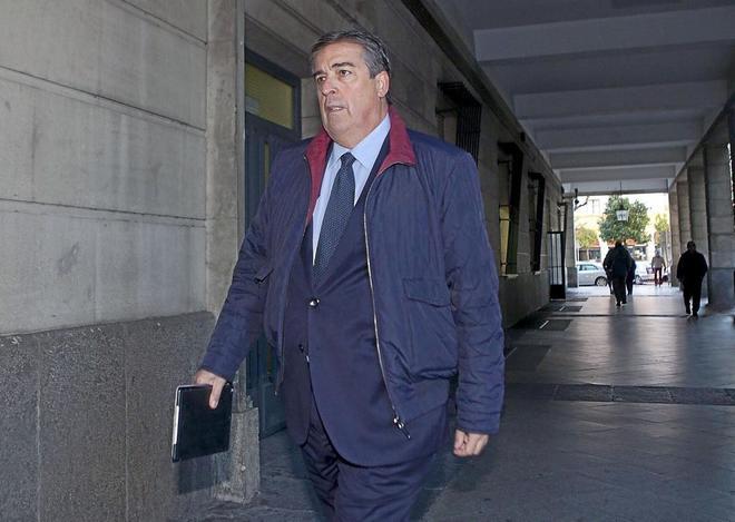 Álvaro Julio, ex presidente de Invercaria, en los juzgados de Sevilla.
