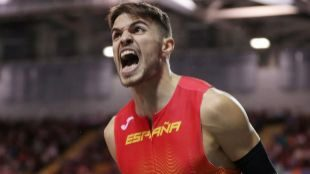 Óscar Husillos vuelve a ilusionar un año después de su oro mundial perdido