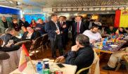 El líder del PP nacional, Pablo Casado, ayer en un almuerzo con los 'populares' de Calvià.