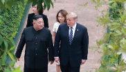 Kim Jong Un y Donald Trump, en su encuentro en Hanoi.