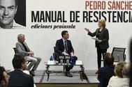 Pensada como un programa de telebasura, la presentación de 'Manual de resistencia', el libro de Sánchez/Lozano, contó con la participación de Javier Calleja y Mercedes Milá.