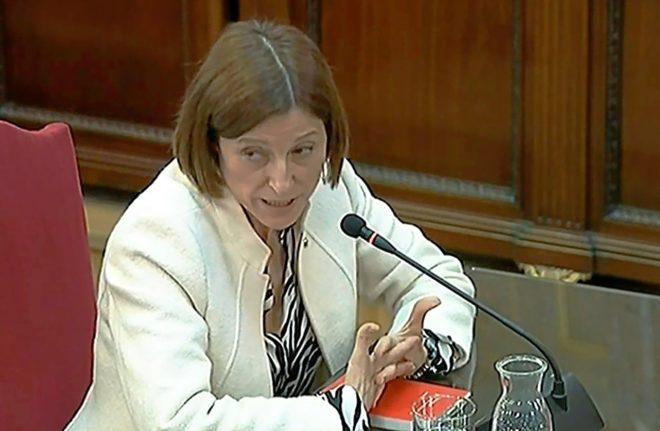 La ex presidenta del Parlament, Carme Forcadell, declara en el Tribunal Supremo