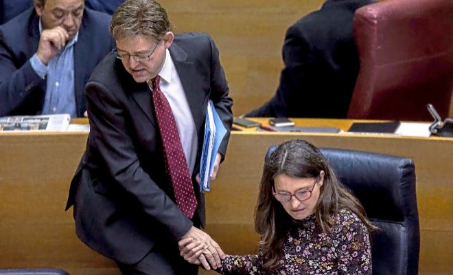 El president de la Generalitat, Ximo Puig y la vicepresidenta del Consell, Mónica Oltra.