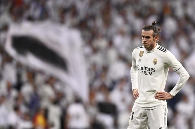 Bale, durante el partido contra el Barça en el Bernabéu.
